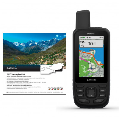 Garmin GPS Map 66s Set Topo Transalpin+ Pro