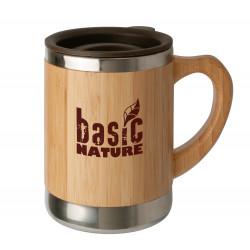 Basic Nature Edelstahlbecher Bambus