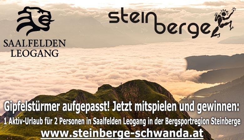 Jetzt mitmachen und einen Urlaub in der Bergsportregion Steinberge zu gewinnen!